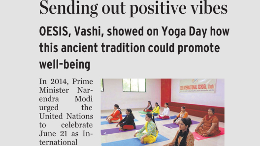 THE HINDU coverage of International Yoga Day at OESIS, Vashi
